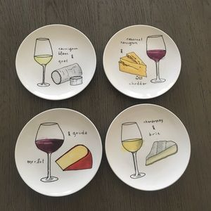 CreativeCo-op cheese & wine lovers plates